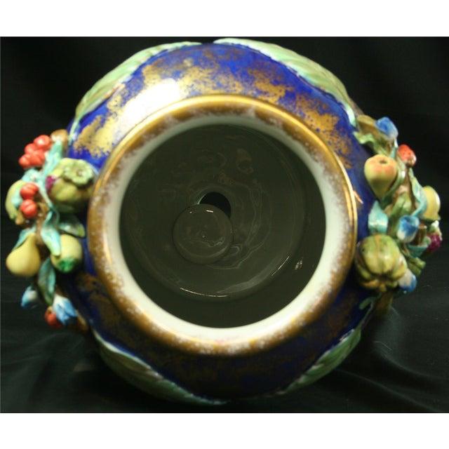 Italian Majolica Blue Ceramic Umbrella Stand Vase - Image 8 of 9