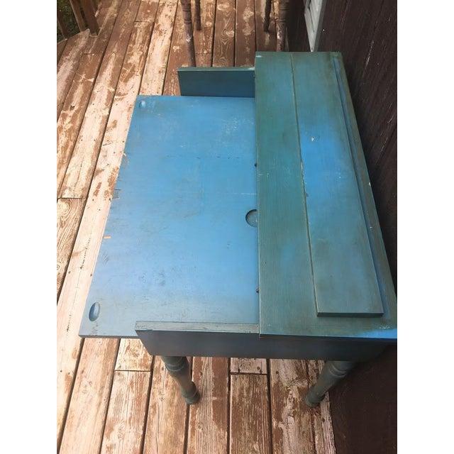 Wood Vintage Secretary Desk For Sale - Image 7 of 13