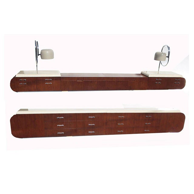 1960s Arthur Elrod for Laurence Harvey Wall-Mounted Bedroom Suite - a Pair For Sale - Image 10 of 10