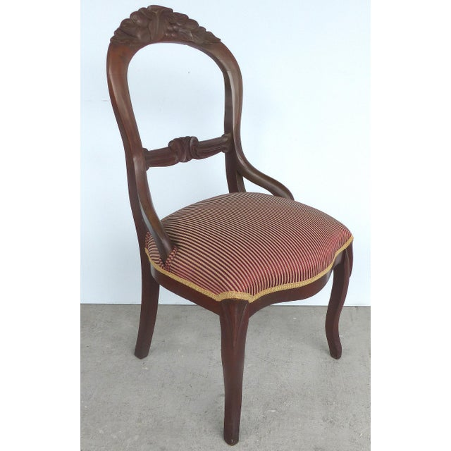 Traditional Balloon Back Dining Chairs-A Pair For Sale - Image 3 of 12