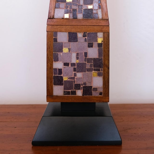 1950s Pair of Mosaic Lamps, 1950s For Sale - Image 5 of 9
