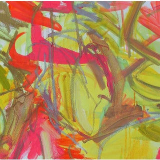 """Abstract Expressionist Oil Painting by Trixie Pitts """"Chinese New Year"""" Preview"""