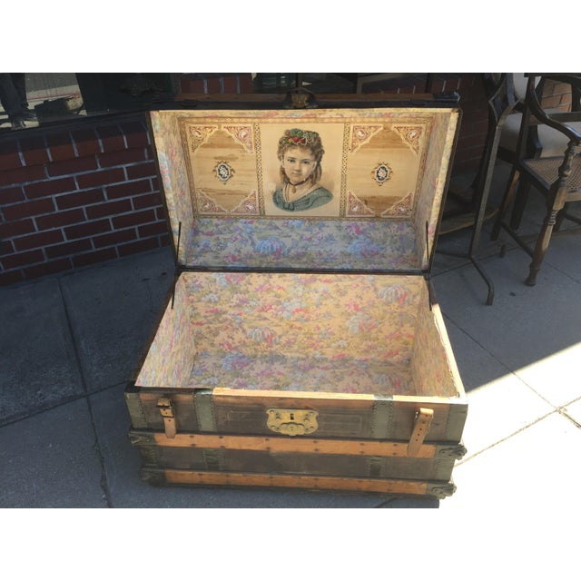 Antique Stagecoach Trunk Steamer For Sale - Image 10 of 13