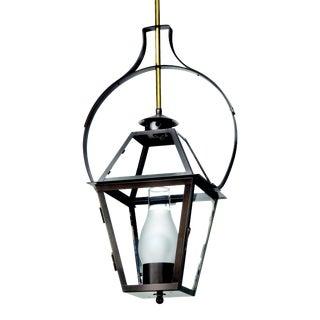 Charleston Hanging Yoke Lantern, Bronze For Sale