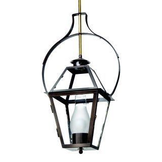 Lantern & Scroll Charleston Hanging Yoke Lantern, Bronze