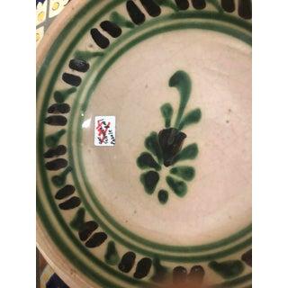 Vintage Mexican Ceramic Pozole Bowl Hand Painted Grape Vine Flower Design Preview