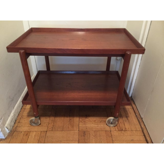 Poul Hundevad Teak Mid-Century Bar Cart - Image 2 of 8