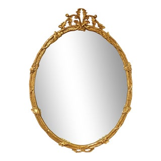 Carver's Guild 18th Century Inspired Gilt Wood Naturalistic Beveled Mirror For Sale