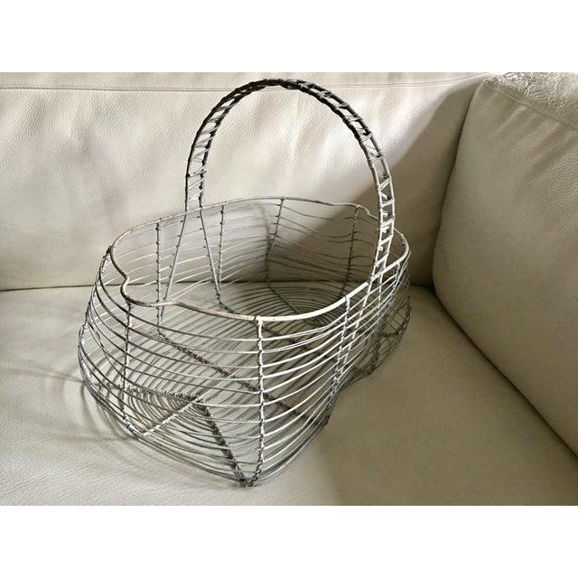 Antique French Wire Basket For Sale - Image 4 of 7