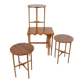 Bertha Schaefer for Singer & Sons Walnut Nesting Table Set For Sale