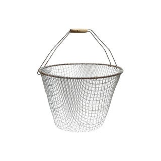 Large Vintage French Wire Basket For Sale