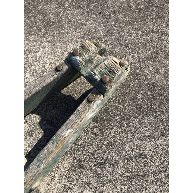 Wood Authentic American Country Apple Ladder For Sale - Image 7 of 8
