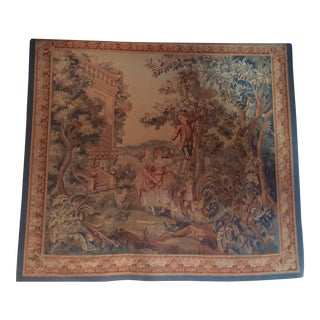 French Style Faux Aubusson Tapestry For Sale