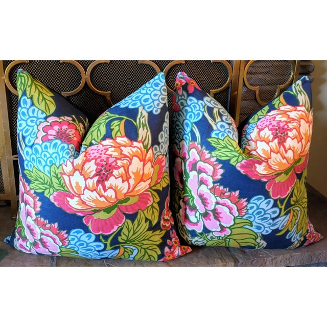 Not Yet Made - Made To Order Thibaut Honshu Chinoiserie Style Floral Pillows - a Pair For Sale - Image 5 of 5