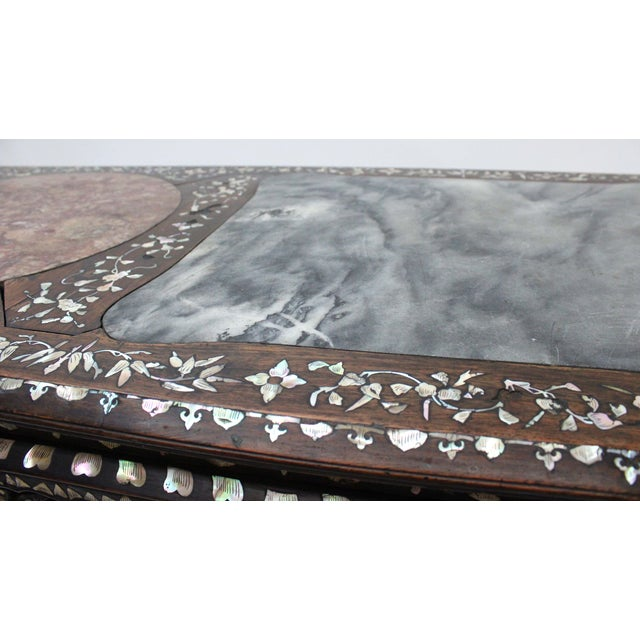Marble & Mother of Pearl Inlay Table - Image 4 of 10