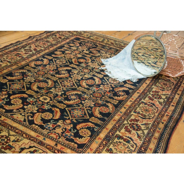 "Vintage Malayer Square Rug - 5' x 6'2"" - Image 4 of 9"