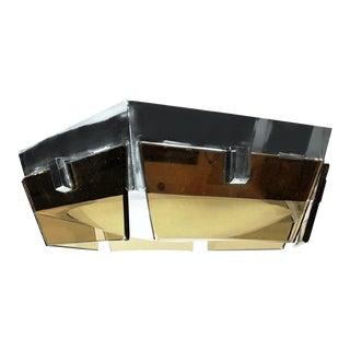 Vetreria DI Cassano for Veca Smoked Glass Flush Fixture