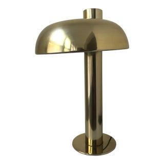 Laurel Brass Tilted Mushroom Lamp For Sale