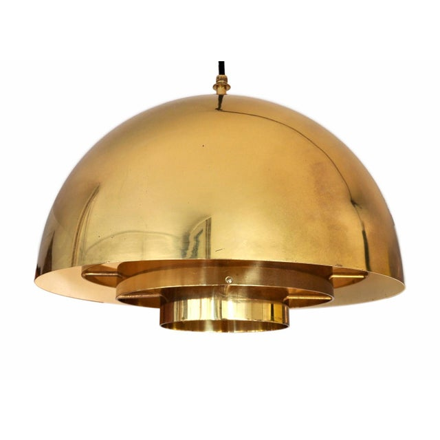 1960s Brass Pendant Lamp by Vereinigte Werkstatten Munchen, 1960s For Sale - Image 5 of 10