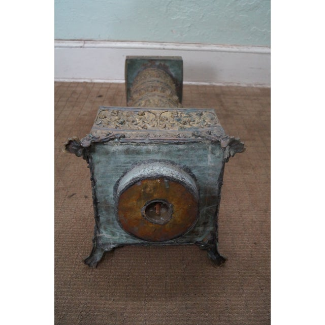 19th Century Brass Relief Neo Classical Pedestal - Image 10 of 10