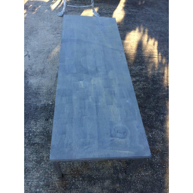 Metal 1990s Minimalistic Slate Coffee Table With Aluminum Base For Sale - Image 7 of 11