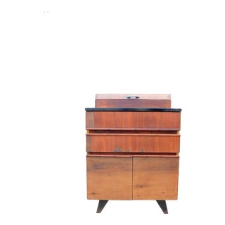Vintage Mid-Century Modern Wooden Bar Cabinet For Sale