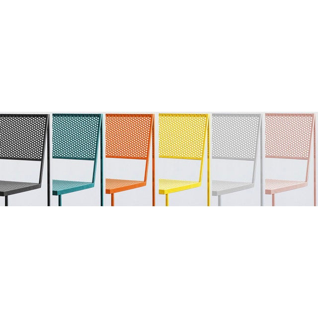 Flux Dining Chair in Sunlight Yellow by the Foreman Brothers For Sale In Los Angeles - Image 6 of 6