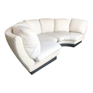 Willy Rizzo Large Curved Sectional Sofa, Italy, 1960 For Sale