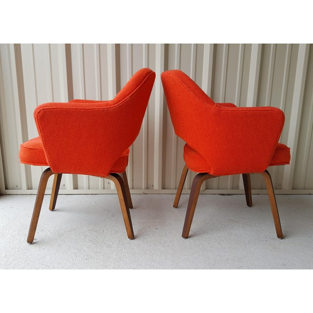 Eero Saarinen Vintage Saarinen Knoll Exectutive Chairs- a Pair For Sale - Image 4 of 13
