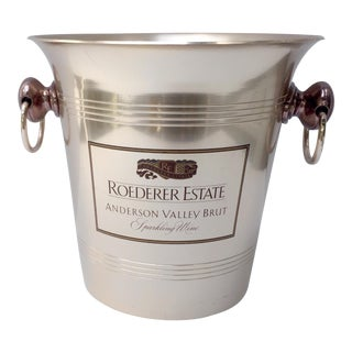 Vintage Roederer Estate Metal Wine Bucket For Sale