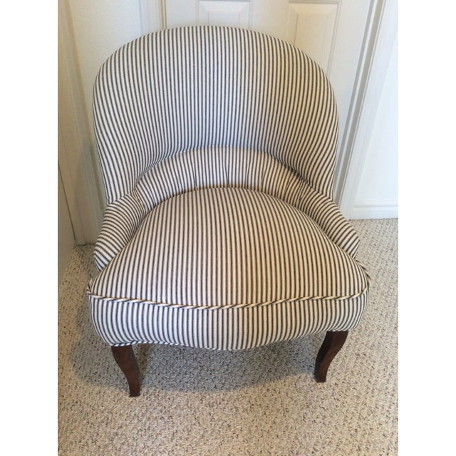 Textile 1930s Vintage French Crapaud Chair For Sale - Image 7 of 7