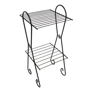 1960s Black Metal Wire Stand