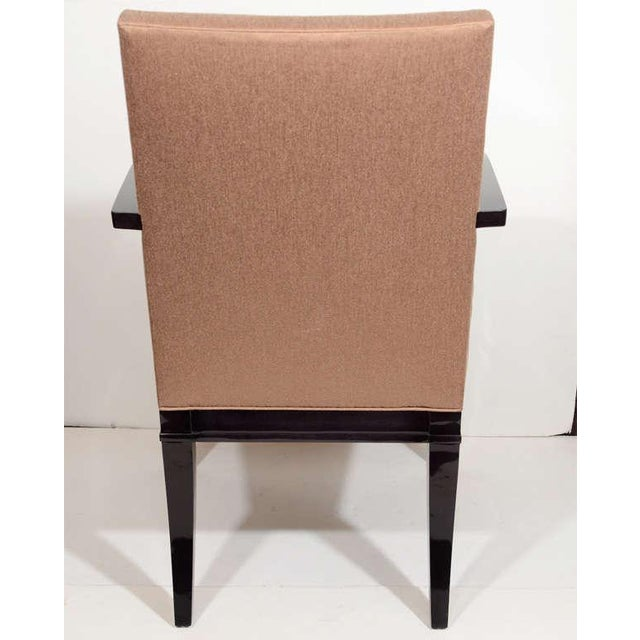 Wood Modernist Dining Chair with Bent Arm Design For Sale - Image 7 of 8