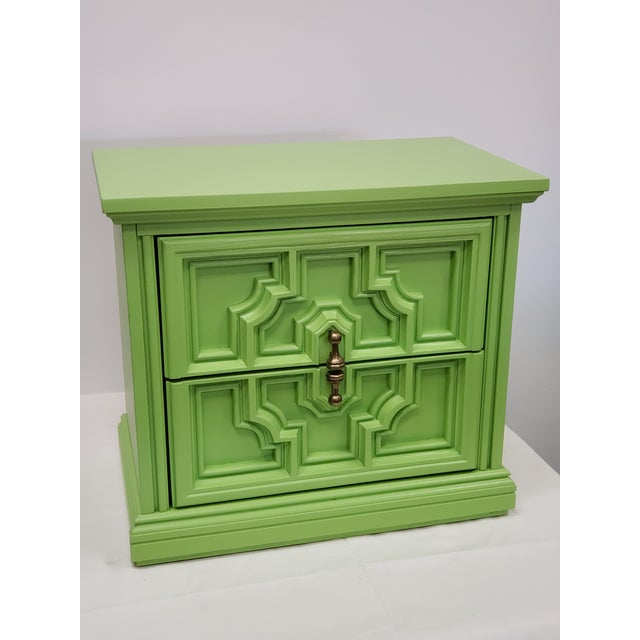 Mediterranean Lime Green Side Table For Sale - Image 4 of 4
