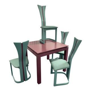 1980s Pierre Cardin Style Memphis Dining Set - 5 Pieces For Sale