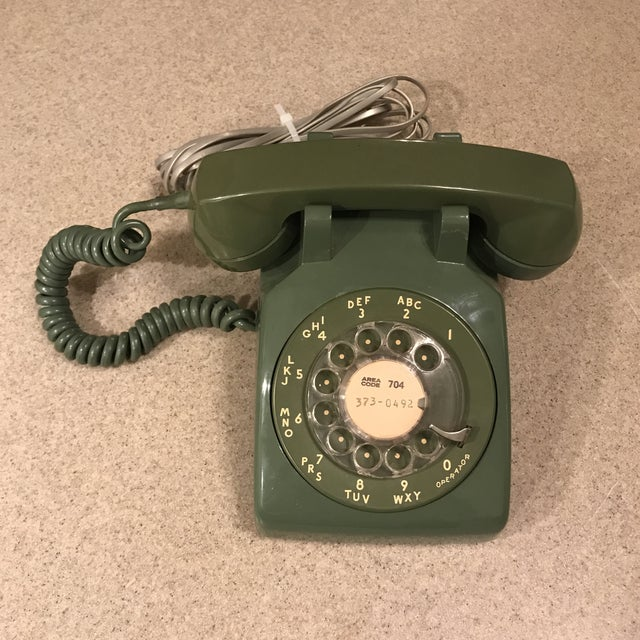 Vintage Western Electric Green 500 Rotary Phone For Sale - Image 11 of 11