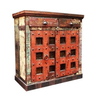 Old Door Side Cabinet