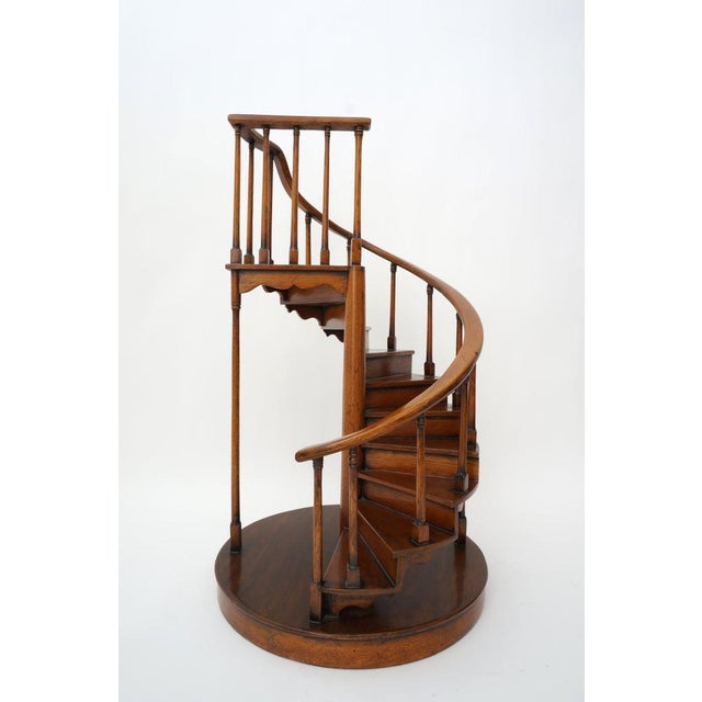 Vintage Spiral Staircase Architectural Model in Mahogany For Sale - Image 4 of 12