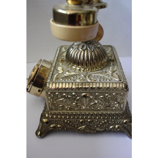 Hollywood Regency Brass Phone - Image 5 of 5