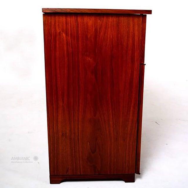 Mid-Century Modern Mid-Century Modern Walnut Cabinet Desk For Sale - Image 3 of 10