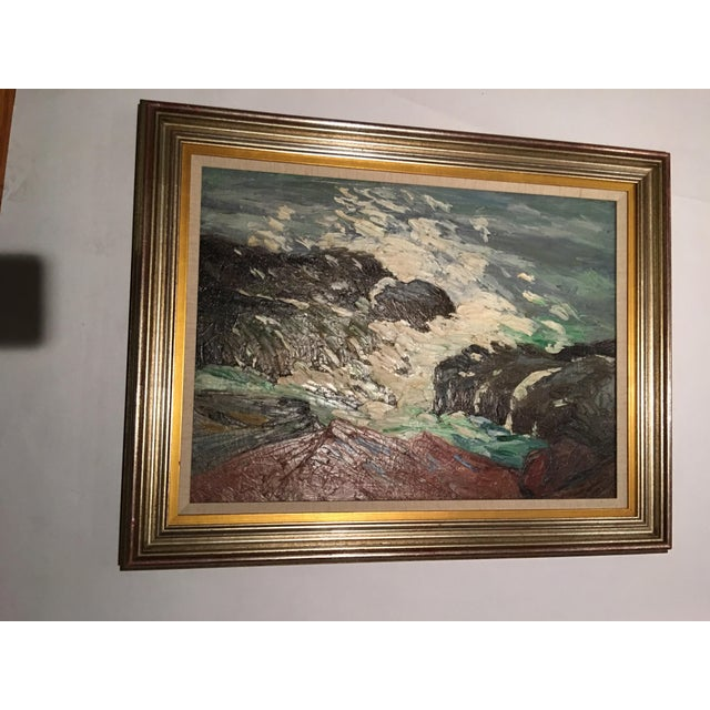Framed Seascape Painting 'After the Blow' - Image 3 of 8