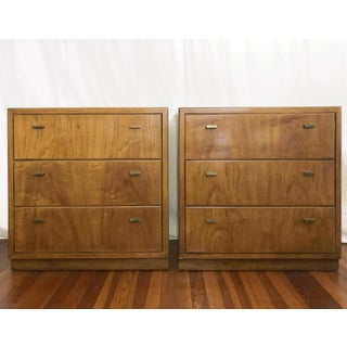 1960's Drexel 3-Drawer Campaign Style Dressers-a Pair Preview