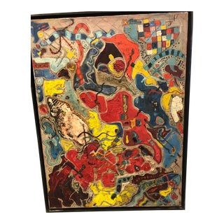 """1960s American Abstract """"Dante's Dancers"""" Painting By Mary Polon For Sale"""