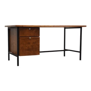 Florence Knoll Style Mid Century Desk For Sale