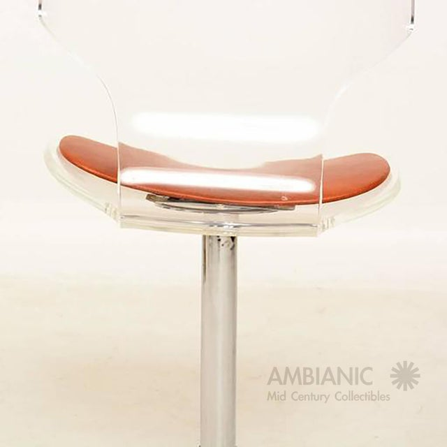 Mid-Century Modern Lucite Dining Chairs by Hill Company - Set of 4 For Sale - Image 3 of 10