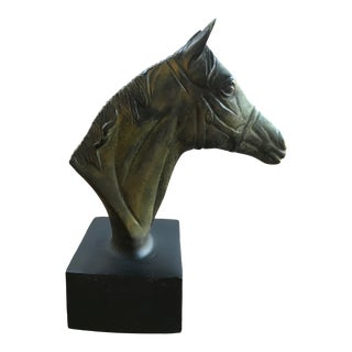 Vintage Equestrian Horse Head Sculpture For Sale