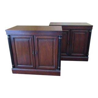 Brandt Mid Century French Empire Style Cherry Chests - a Pair For Sale