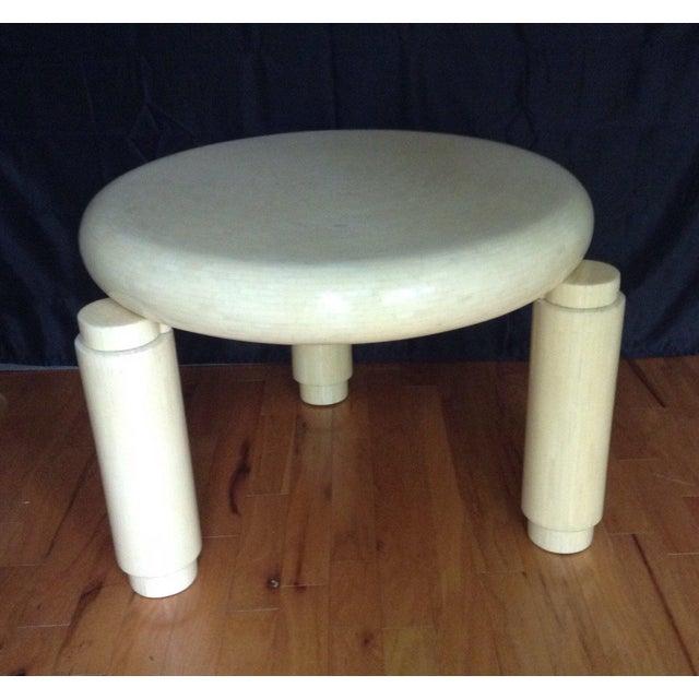 Karl Springer Karl Springer Style Corner Table in Tessellated Bone Enrique Garcel , Circa 1970s For Sale - Image 4 of 11