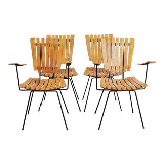 Vintage Umanoff Slat Dining Chairs - Set of 4 For Sale