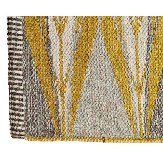 "Vintage Ingrid Dessau ""Sylarna"" Flat-Weave Swedish Carpet - Image 7 of 7"